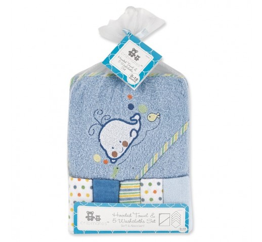 CRIBMATES BABY BLANKET EMBROIDERED BOYS DINO DOTS BLUE NEW