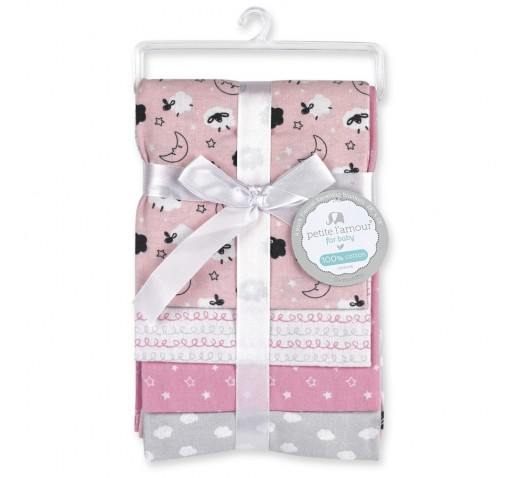 CRIBMATES Petite LAmour Receiving Blankets Baby Boys Whale Pals